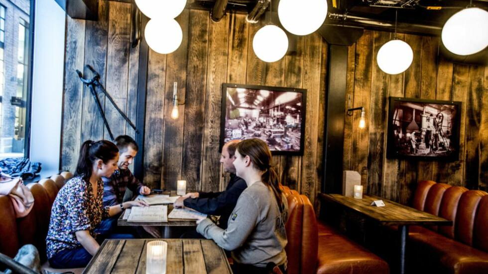 Ikke så varm: Det var god, men lunken mat, og kaffen likeså. Foto:Thomas Rasmus Skaug / Dagbladet
