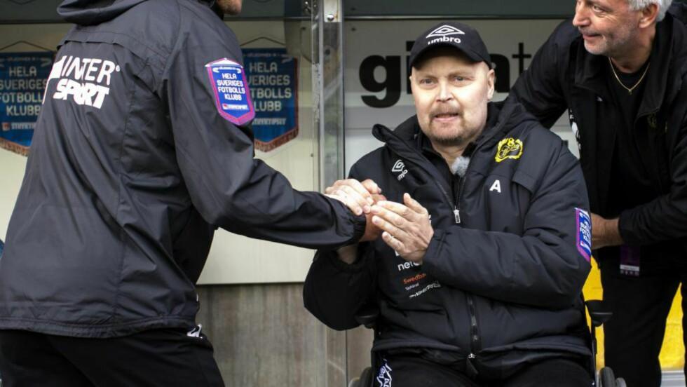 DØDE AV KREFT: Klas Ingesson døde onsdag, men hadde allerede gitt ledelsen i sin klubb navnet på sin etterfølger. Foto: REUTERS / Thomas Johansson/TT News Agency / NTB SCANPIX