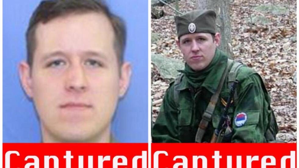 TATT: Eric Frein (31) er pågrepet etter en politijakt som har vart i 48 dager. Foto: AP Photo/FBI