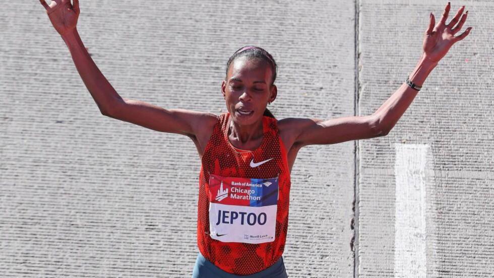 DOPINGTATT:  Rita Jeptoo testet avga en positiv dopingprøve i september. Foto: Jonathan Daniel/Getty Images/AFP/NTB Scanpix.