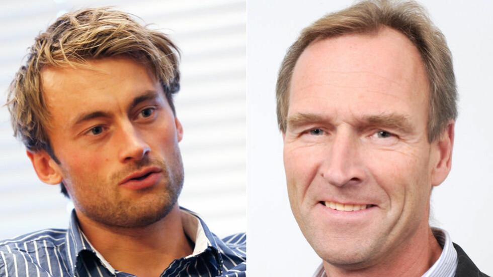 MÅ SIGNERE:  Petter Northug (t.v) må signere representasjonsavtalen i morgen. Generalsekretær i skiforbundet Stein Opsal føler Northug-leiren krever mer etterhvert som de gir. Foto: NTB Scanpix.