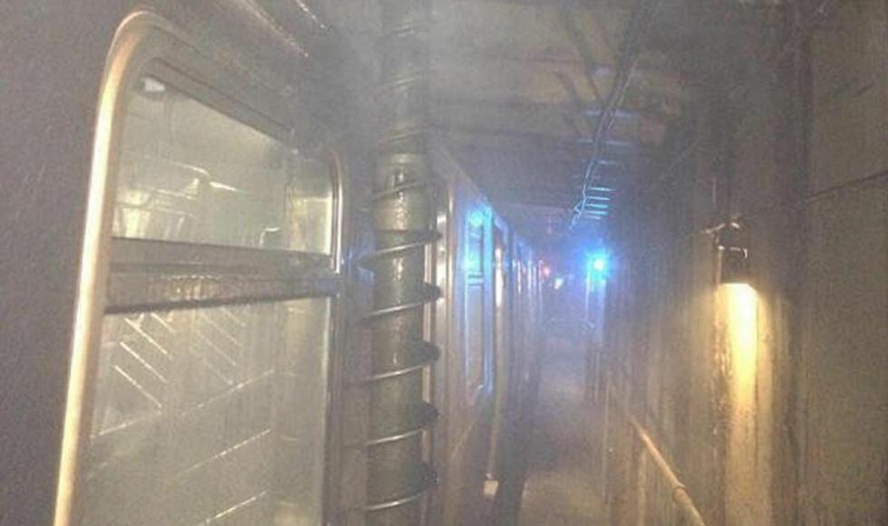 LIKE FØR:  En feil førte til at et gigantisk bor gikk tvers igjennom tunneltaket i Queens. Foto: Metropolitan Transport Authority