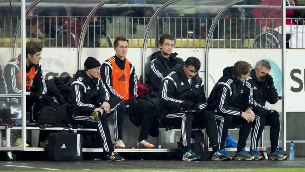 PÅ BENKEN:  Morten Gamst Pedersen var ubenyttet reserve da Rosenborg vant 1-0 over Odd i går. Foto: Vegard Wivestad Grøtt / NTB scanpix