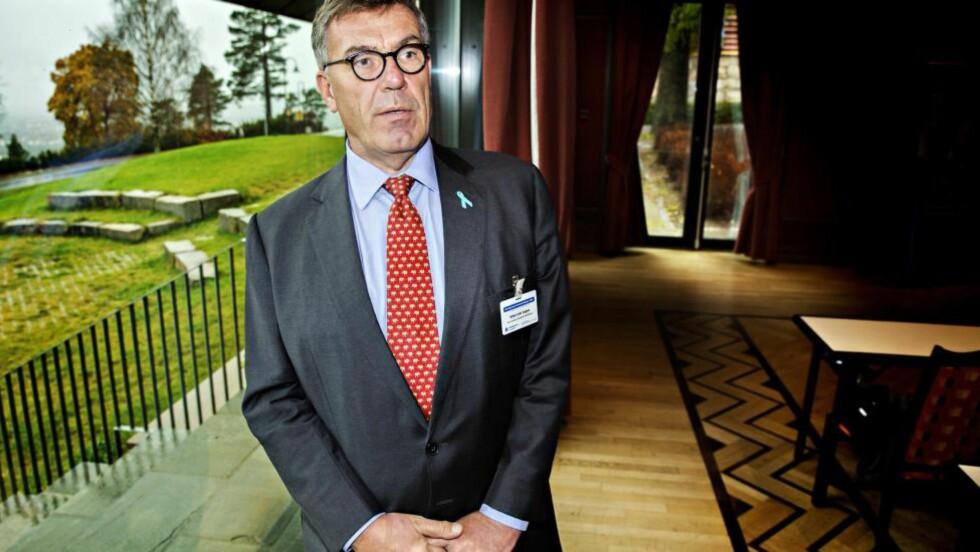 ENGASJERT:  Stein Erik Hagen har selv op plevd å få prostatakreft. Nå donerer han penger til forskning og har engasjert seg for å få bedre diagnostikk og behandling i Norge. Målet er å få færre, maks tre, spesialiserte prostatakreft-sentre. Foto: Nina Hansen