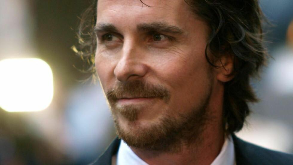 VIL IKKE VÆRE JOBS: Walisiske Christian Bale snur. AFP PHOTO/Max Nash