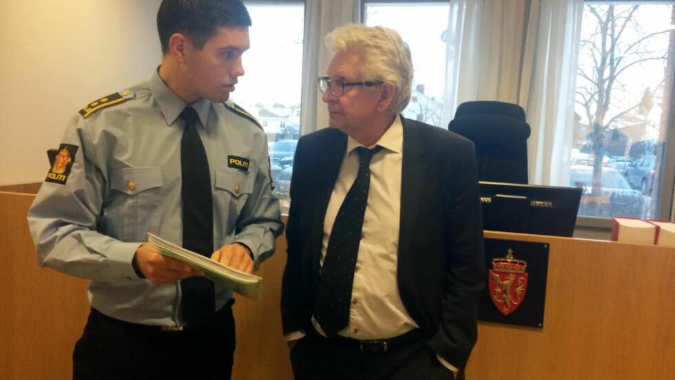 I RETTEN: Politiadvokat Mathias E. Hager og forsvarer Kristen Fari. Foto: Sindre Granly Meldalen