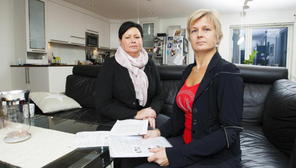BETALTE SJØL: Lillian Rysstad Sandnes (45) (til venstre) og Nina Helene Helle (42) betalte ryggoperasjonene sjøl av egen lomme for å få et smertefritt liv og komme seg tilbake til arbeidet. Foto: Per Flåthe / Dagbladet