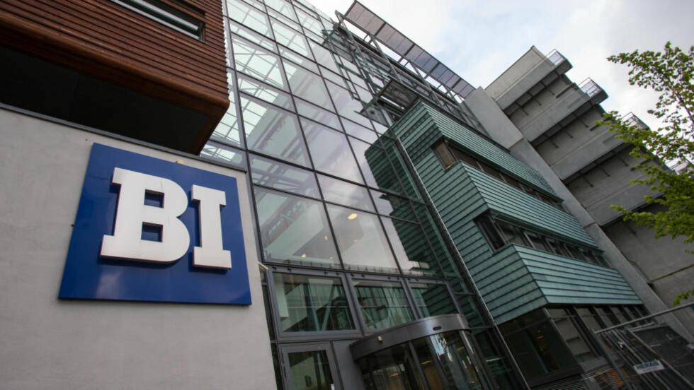 FLERE STRYKER: Lokalene til Handelshøyskolen BI (Norwegian Business School) i Nydalen i Oslo. Foto: Audun Braastad / NTB scanpix