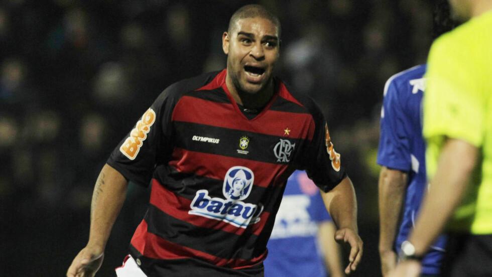I TRØBBEL. Adriano har dessverre hatt teft for mer enn scoringer. Nå har han trøbbel med brasilianske myndigheter. Foto: SPORT SOCCER.
