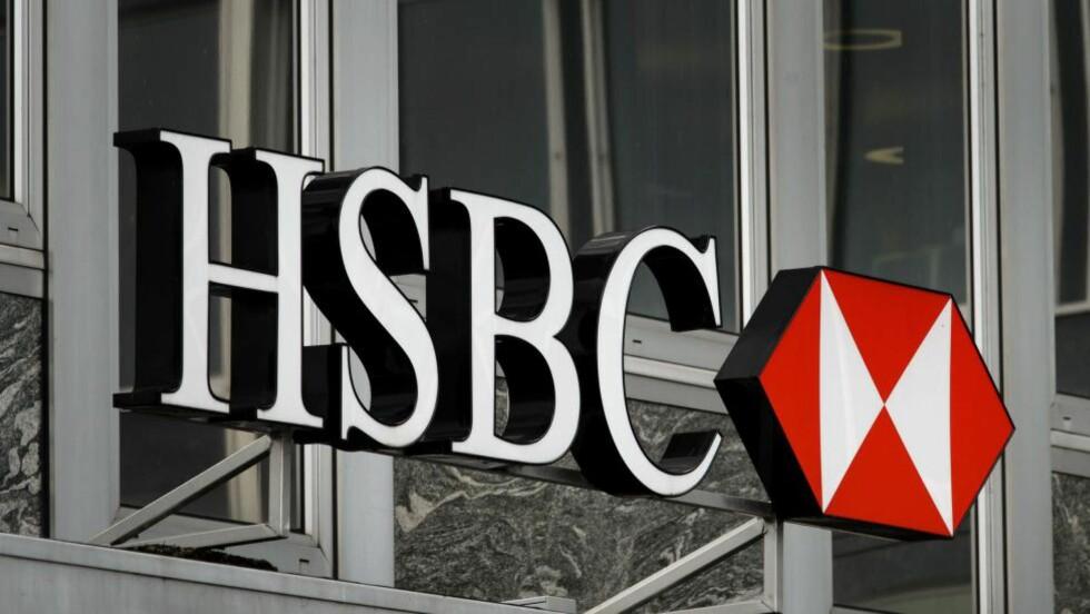 SKJULTE SUMMER: Banken HSBC skjulte gigantsummer for en rekke klienter.  AFP PHOTO / FABRICE COFFRINI