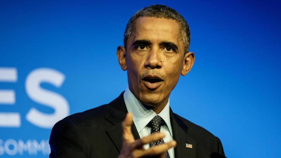 HENTER HJEM: USAs president Barack Obama henter hjem amerikanske soldater fra de ebolarammede områdene i Vest-Afrika. Foto: Lars Eivind Bones / Dagbladet