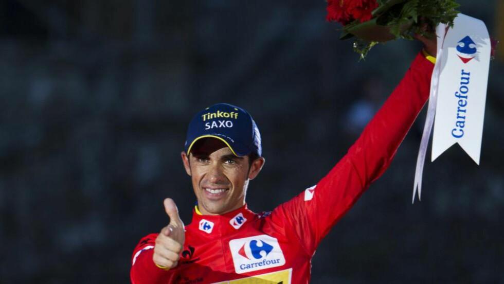 NÆRMER SEG SLUTTEN: Alberto Contador legger sykkelen på hylla i 2016. Foto: AFP PHOTO / JAIME REINA