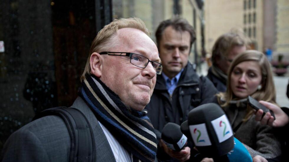 INNRØMMER AT «DET GIKK I BALL»: Per Sandberg knyttet KrF til IS-massakrene. Foto: Torbjørn Berg / Dagbladet.