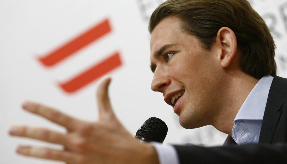 VALGVINNER: ÖVP-leder Sebastian Kurz (31). Foto: Heinz-Peter Bader / Reuters / NTB Scanpix