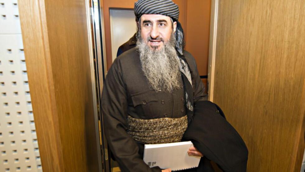 PÅGREPET: Najmuddin Faraj Ahmad (Krekar) er i kveld pågrepet av Oslopolitiet.  Foto Hans Arne Vedlog / Dagbladet.