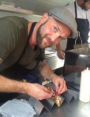 <strong>UOFFISIELLT VM:</strong> Under matfestivalen Copenhagen Cooking konkurrerer åtte land om hvem som lager den beste pølsa, Knut Lake håpet på å ta seieren for Norge. Foto: PRIVAT