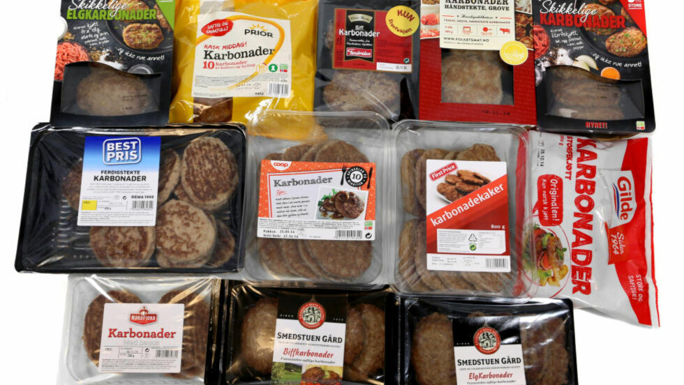 LITE KJØTT : Mange karbonade-typer har lite kjøtt og mye fett i seg. Foto: ERIK HELGENESET.