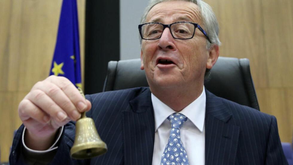 SKATTESJEF I SKATTEPARADIS: EU-president Jean-Claude Juncker. Foto: Francois Lenoir/ REUTERS/ NTB Scanpix