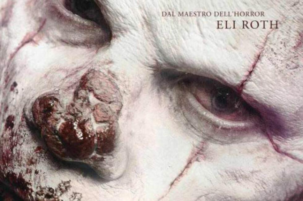 BLODIG KLOVN:  Denne plakaten, med bilde av en hvitmalt klovn med blodig munn og nese, ble sensurert i Italia. Foto: Cross Creek Pictures