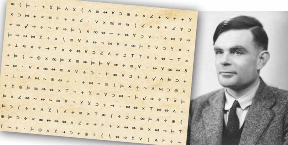 PIONÉR: Matematikeren Alan Turing var ifølge Winston Churchill den enkeltperson som hadde størst betydning for at de allierte beseiret Nazi-tyskland. Han la også grunnlaget for den moderne datamaskinen. Han ble dømt for homoseksualitet i 1952, og ble dømt til kjemisk kastrering. Han tok sitt liv to år senere.