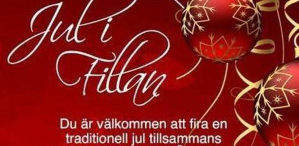 JULEHILSEN:  Filadelfiakyrkan på den svenske vestkysten har fått fram årets julebudskap i god tide. Faksimile: Dagens Media.