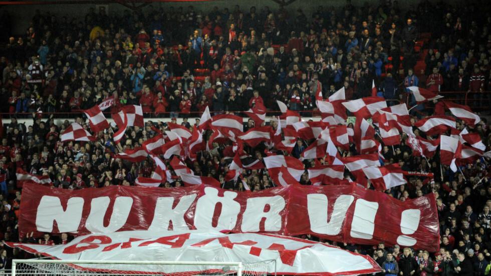 NU SNUR VI Brann-supporterene kom ikke fram til kveldens kamp mot Haugesund. Foto: NTB Scanpix
