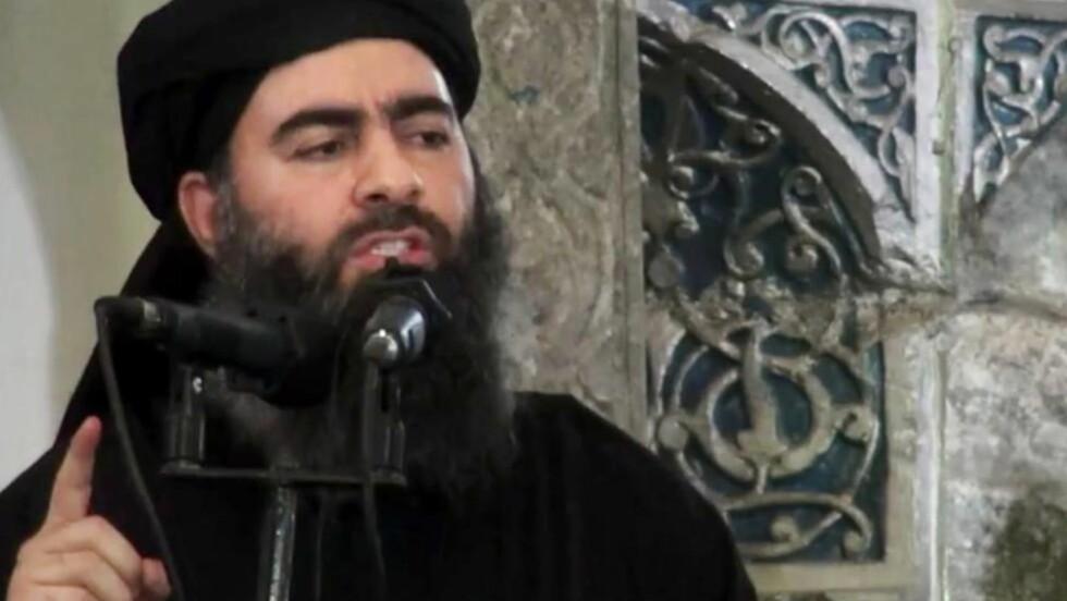 SKAL VÆRE SKADD: Abu Bakr al-Baghdadi er skadd etter at amerikansk bombeangrep på fredag. Foto: NTB scanpix