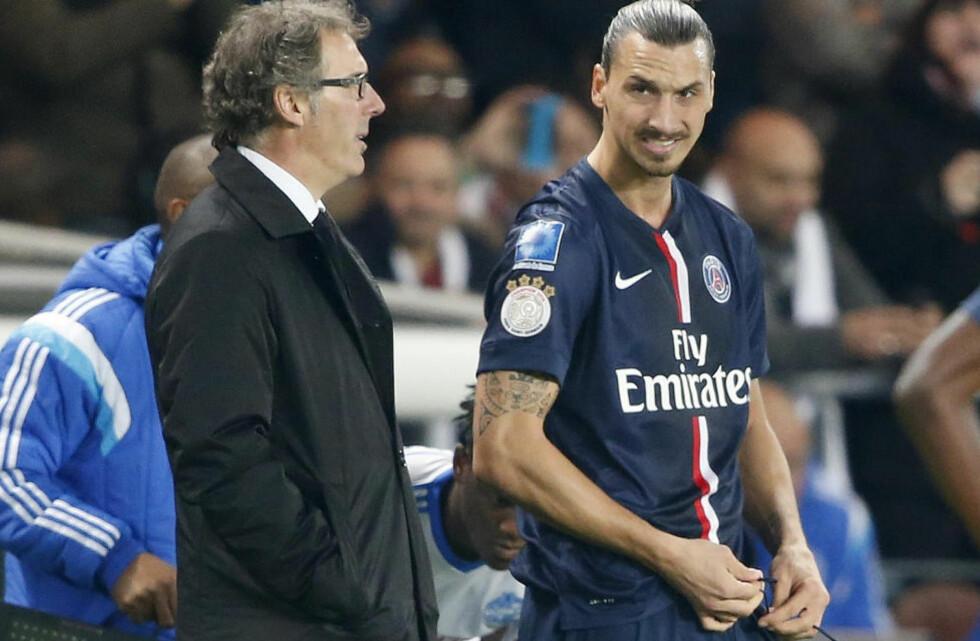 ENDELIG KLAR: Paris St Germain-spiller Zlatan Ibrahimovic har slitt med skade, men var i kveld tilbake på banen. Foto:  REUTERS/Charles Platiau