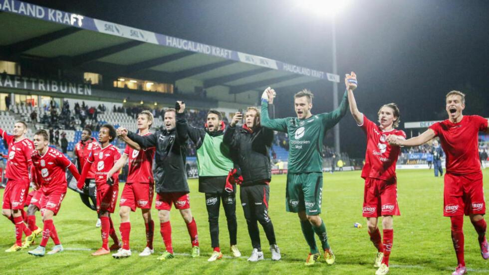 CUP OG KVALIK: Samme dag som Odd og Molde spiller cupfinale, skal Brann kjempe for Tippeliga-overlevese. Foto: Jan Kåre Ness / NTB scanpix