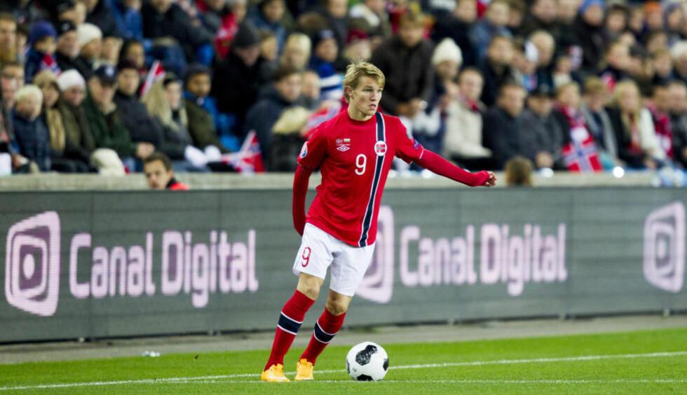INGEN VINTERKAMP: En ligalandslagstur i januar ville høyst trolig gitt Martin Ødegaard nye sjanser til landslagsspill - om han ikke selges før den tid, da. Foto: Vegard Wivestad Grøtt / NTB scanpix