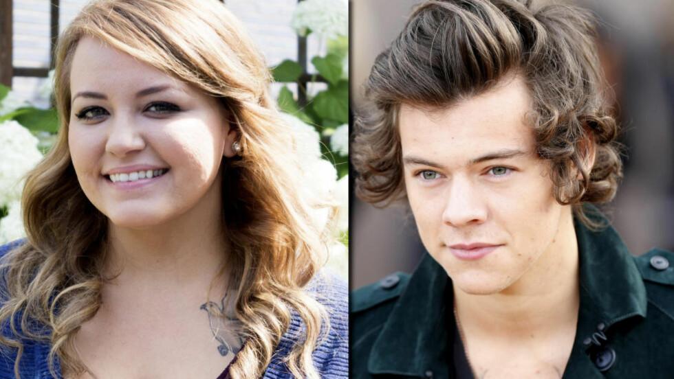 SKJØT GULLFUGLEN: Anna Todds Harry Styles-fantasier ble en hit på nett, og nå kommer bok- og filmindustrien drassende med pengesekkene til den 25 år gamle texaneren. Foto: Simon & Schuster/NTB Scanpix