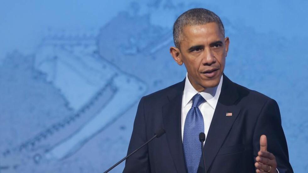 KLAR TALE: Samme dag som USAs president, Barack Obama, reiste på besøk til Kina, kom han med en uttalelse hvor han tar til orde for nettnøytralitet. Foto: AFP PHOTO/Mandel NGAN