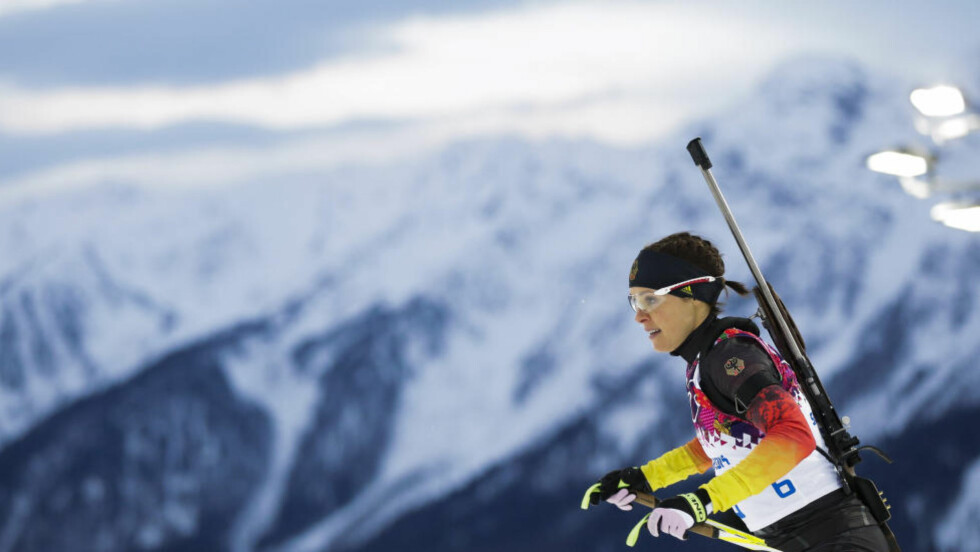DOPTATT:  Evi Sachenbacher-Stehle ble tatt under OL i Sotsji. Foto: NTB Scanpix