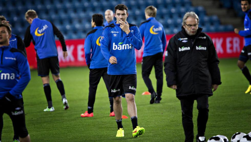 FORBEREDELSER:  Vegard Forren og landslaget trente på Ullevaal i går kveld. I dag venter Estland i treningskamp.