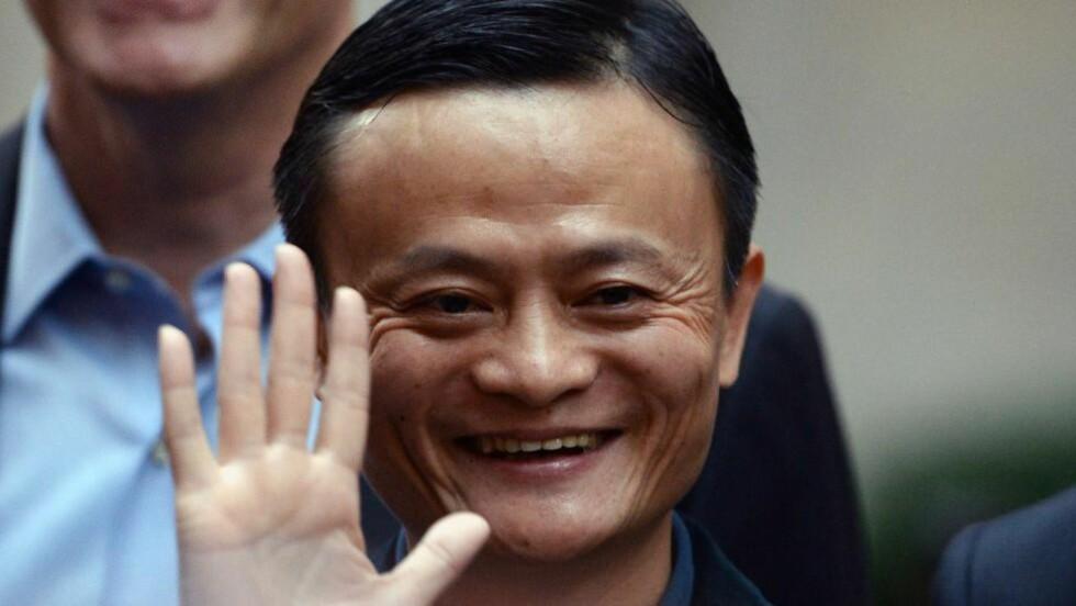 SUKSESS Den tidligere engelsklæreren Jack Ma fra Kina har blitt landets rikeste mann med sitt netthandelsselskap Alibaba. Foto: AFP PHOTO / FILES / Jewel Samad