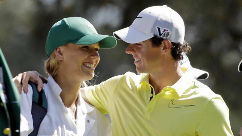BRUDD: Rory McIlroy brøt forlovelsen med Caroline Wozniacki etter at bryllupsinvitasjonene var sendt ut. Foto: AP Photo / Darron Cummings / NTB Scanpix