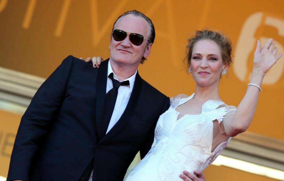 VIL BLI UNG PENSJONIST: Filmskaper Quentin Tarantino, her med Uma Thurman. Foto: Stella pictures