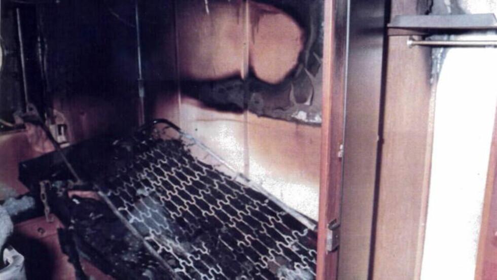 VOLDSOM BRANN: Skadene om bord på passasjerferja var store etter brannen. Foto: Dagbladet