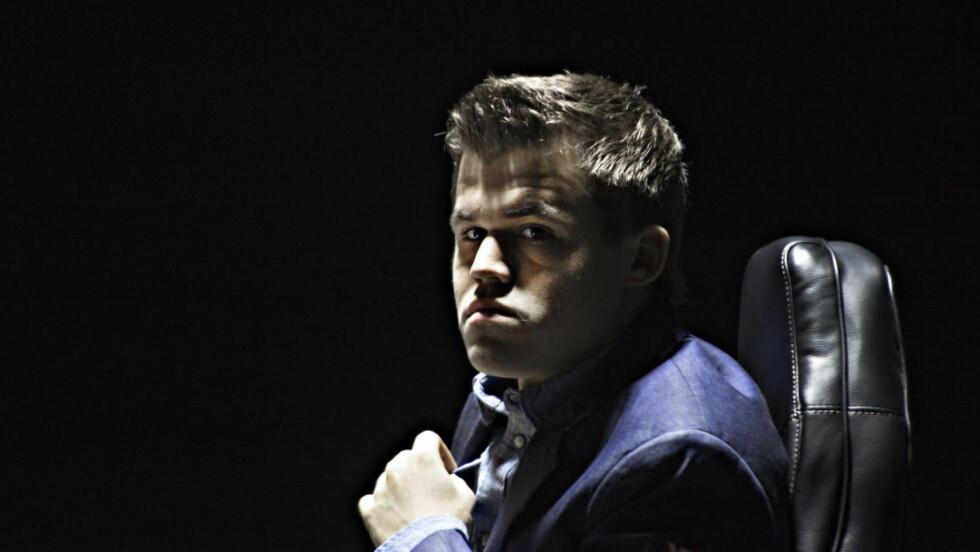 MISFORNØYD: Magnus Carlsen var alt annet enn fornøyd da han snakket med pressen etter dagens parti. Foto Hans Arne Vedlog / Dagbladet
