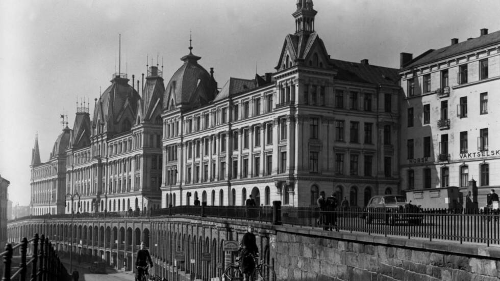 HOVEDKVARTER: Under krigen holdt tyskernes Gestapo og Sicherheitsdienst til i Victoria terrasse i Oslo. Foto: NTB Scanpix