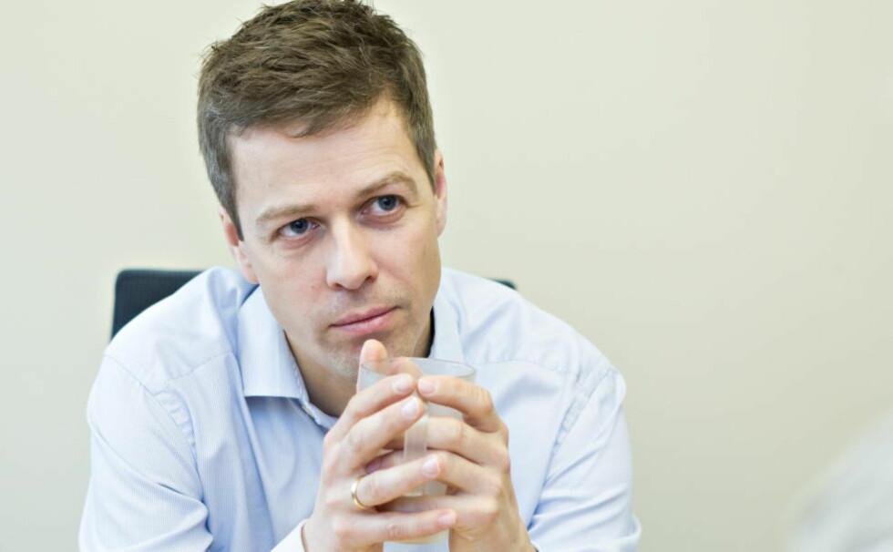 HASTEMØTE:  Partileder Knut Arild Hareide har innkalt KrFs stortingsgruppe til hastemøte om budsjettforhandlingene. Foto: Torbjørn Berg / Dagbladet