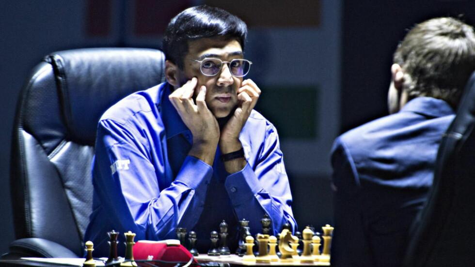 20141112 SOTSJI Magnus Carlsen og Vishy Anand møtes til fjerde part i sjakk vm. Foto Hans Arne Vedlog / Dagbladet