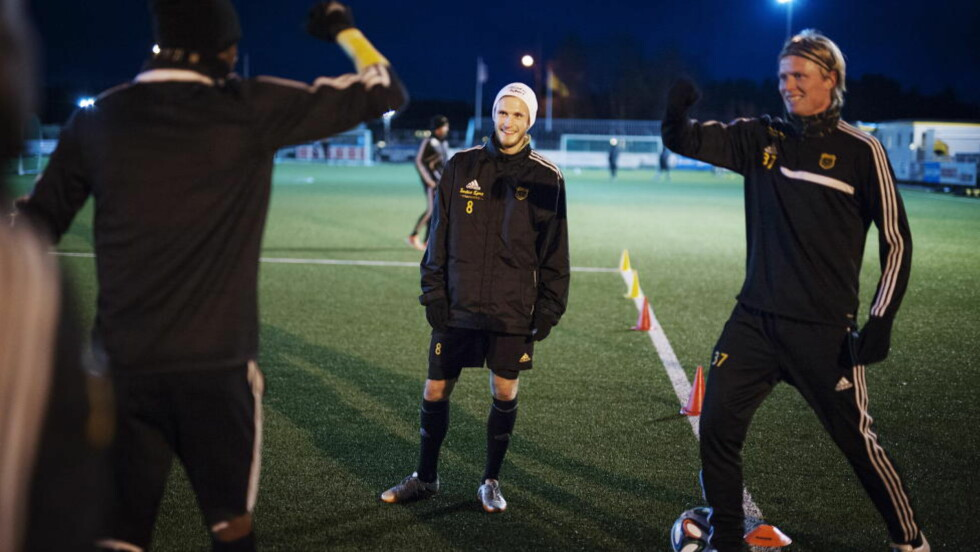 SISTE SESONG: Kaptein ved Bærum fotballklubb, Lars Rønningen Sandbu (27), kan spille klubben opp i Tippeligaen i år, men velger å legge opp for fokusere på jobben. Foto: Benjamin A. Ward / Dagbladet