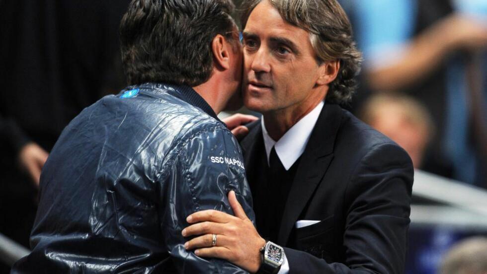 TIL INTER: Roberto Mancini er ansatt som ny manager i Inter. Foto: EPA/ROBIN PARKER