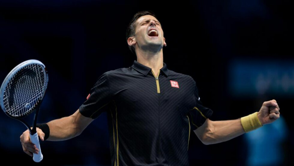I KJEMPEFORM: Novak Djokovic knuste Tomas Berdych hele 6-2, 6-2 i ATP-sluttspillet i London. Foto: AFP PHOTO/GLYN KIRK