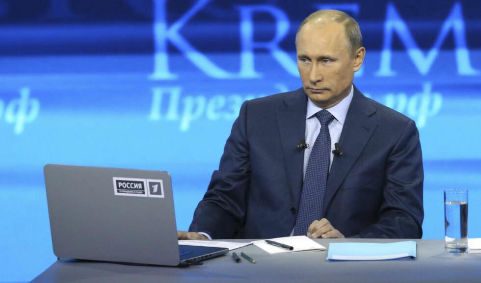 INTERNETT-KONTROLL:  President Vladimir Putins regjering har skjerpet kontrollen med internett kraftig i løpet av året. Foto: REUTERS/Alexei Nikolsky/Ria Novosti/NTB Scanpix