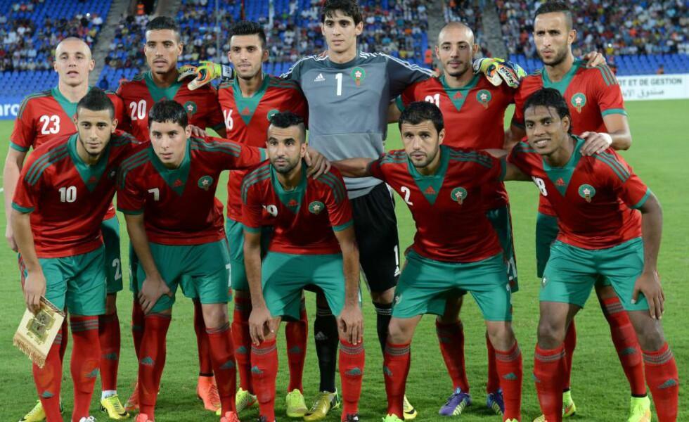 TRAKK SEG: Marokka får ikke arrangere Afrika-mesterskapet neste år - og riskerer nå å bli utestengt de fire neste åra. Foto:  AFP PHOTO / FADEL SENNA         .