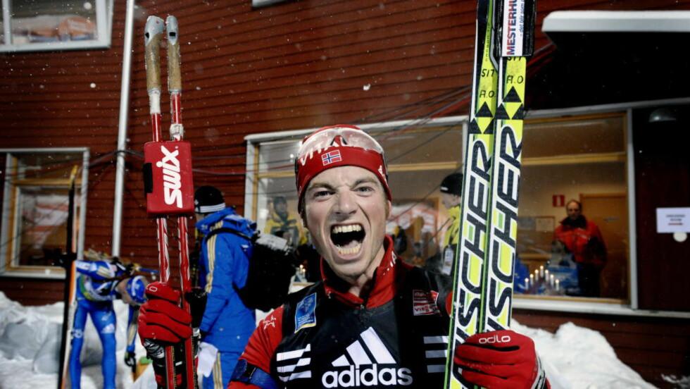 VANT: Alexander Os var endelig på toppen av pallen igjen. Her er han etter en seier i 2008. Foto: John T. Pedersen/Dagbladet
