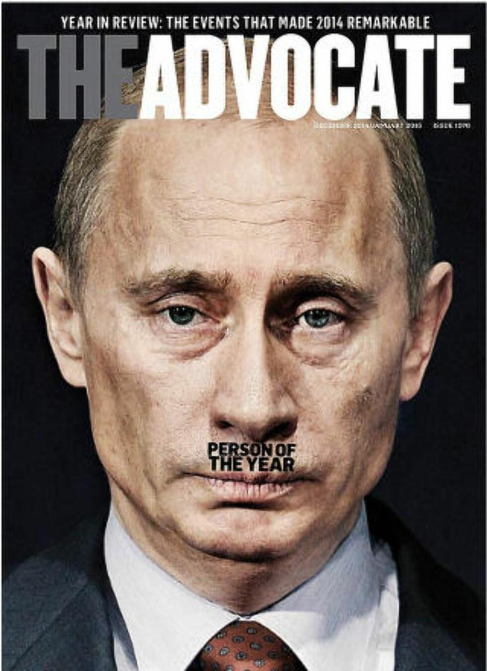 Faksimile av forsida til The Advocate