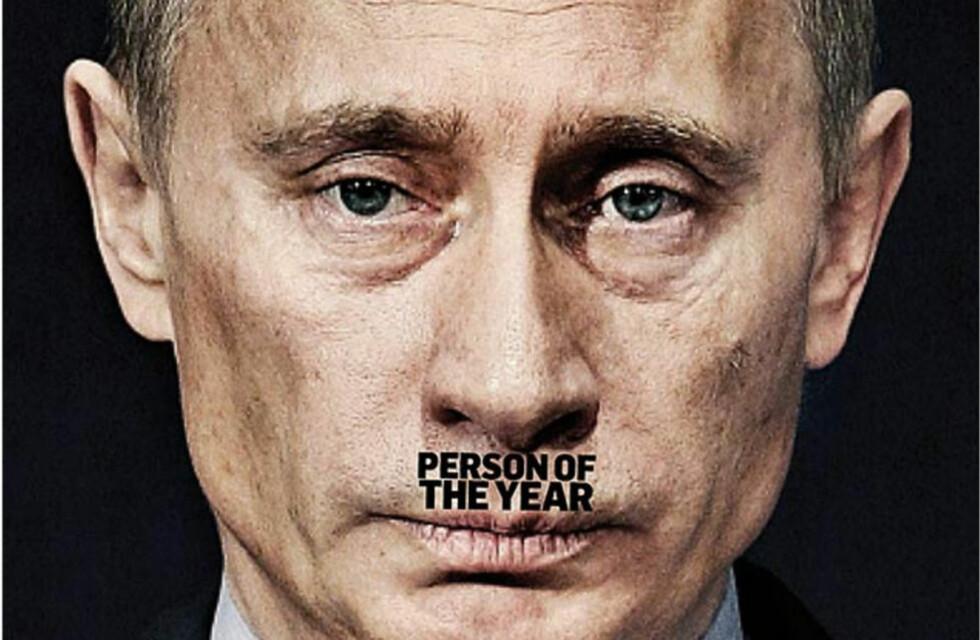 UHYGGELIGE ASSOSIASJONER: Plasseringen av tittelen som årets navn - «Person of the Year» - er ikke tilfeldig valgt. Bildet viser en del av forsida på homo-bladet The Advocate.
